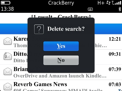 how to delete search list