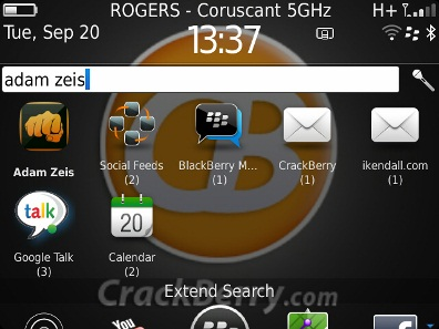 Search Home Screen