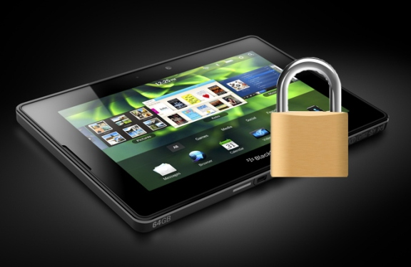 PlayBook with Padlock