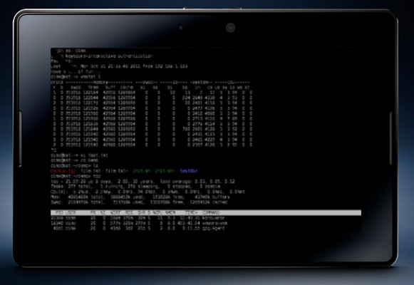 Telnet SSH on PlayBook