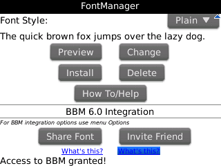 FontManager Screenshot
