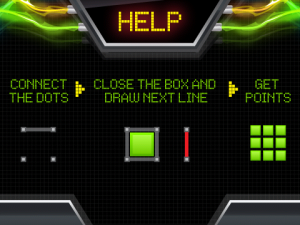 Neon Dots Help Screen