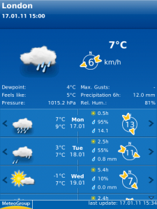 WeatherPro for BlackBerry