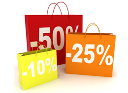 Shopping bags with discount