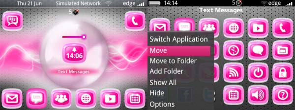 3D Jelly Pink Theme