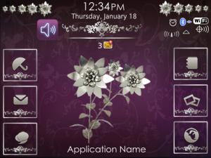 Metallic Flower Theme