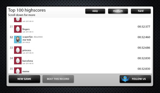 BlackOut Top 100 Highscores