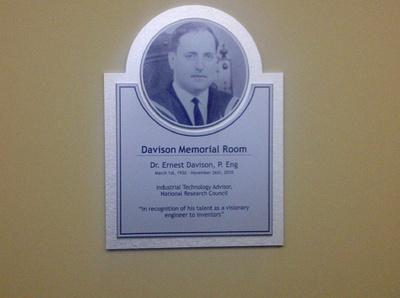 Ernest Davison Plaque