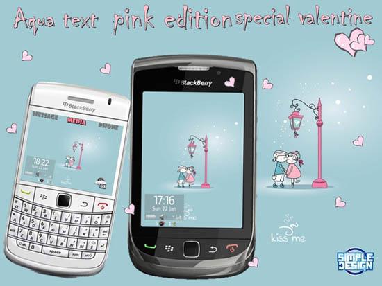 Aqua Text Pink Edition