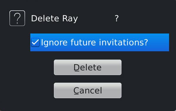 Delete BBM contact