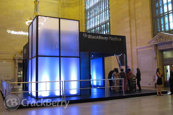 BlackBerry PlayBook booth - Grand Central
