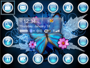 16 icon butterfly theme
