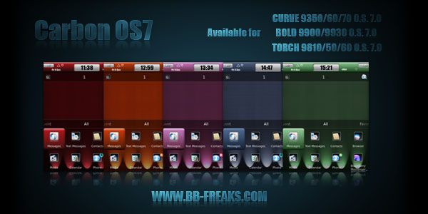Blackberry torch 9800 os 7 icons
