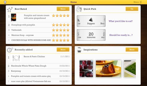 Cooklet for the BlackBerry PlayBook