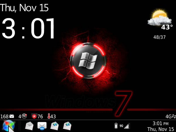 Desktop7 Clock & Weather Slot