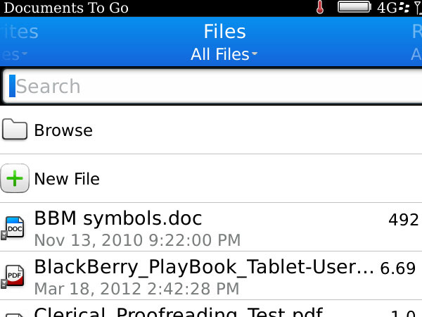 Documents to Go search OS7