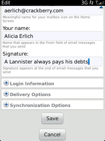 BlackBerry Email Signature