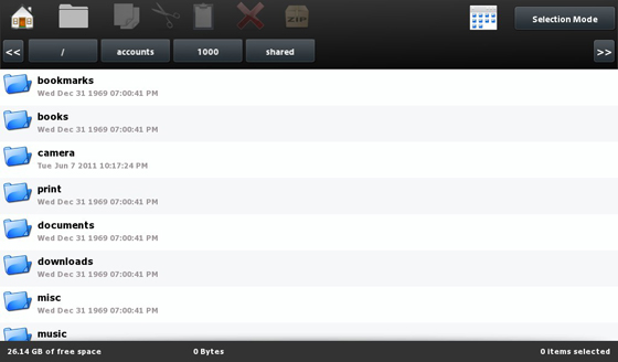 File Browser List View