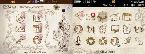 Floral Wine Theme