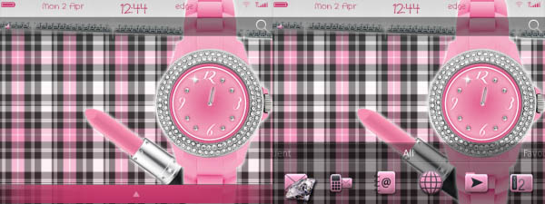 Glam Girly Clock
