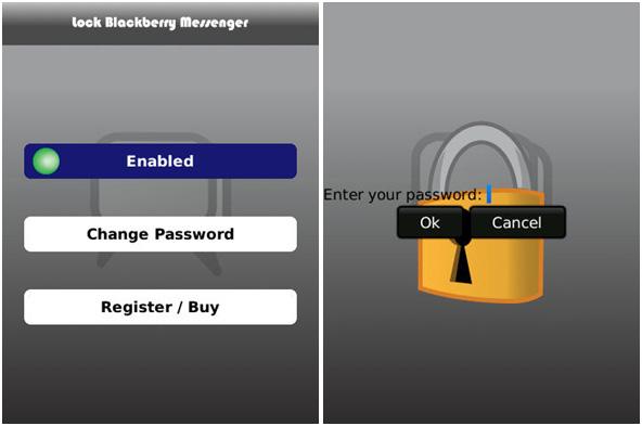 Lock BlackBerry Messenger