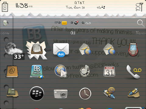 Free NotePad 2 Anniversary OS7 Theme