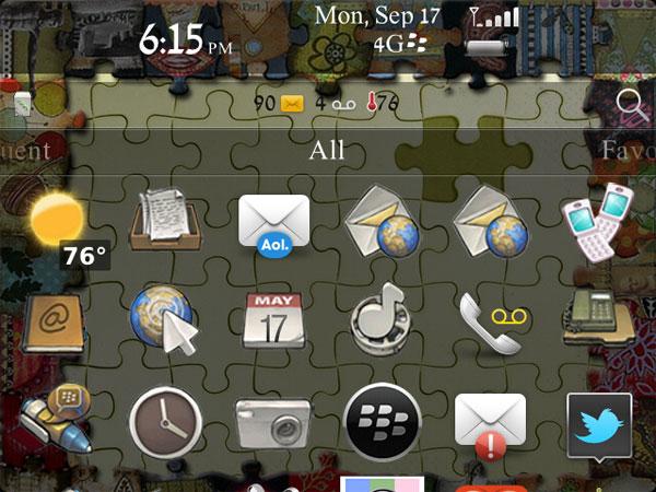 Puzzle Theme homescreen
