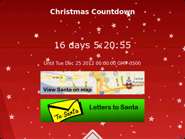 Santa Tracker - Christmas Countdown
