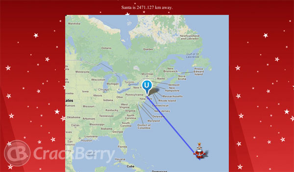 Santa Tracker - Map