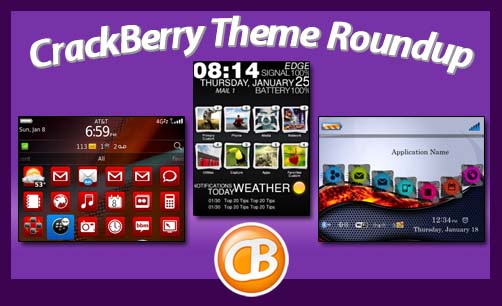 CrackBerry theme roundup 01-10-12