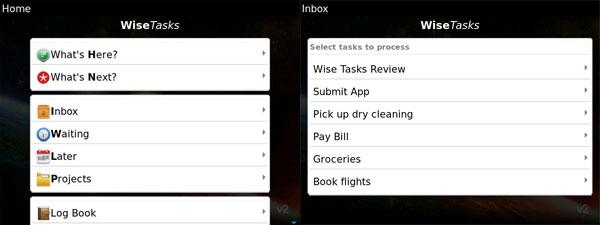 Wise Tasks Home