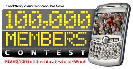 CrackBerry.com Has 100,000 Members Contest!