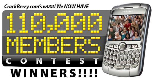 110,000 Members Contest Winners!