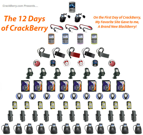 The 12 Days of CrackBerry Holiday Giveaway