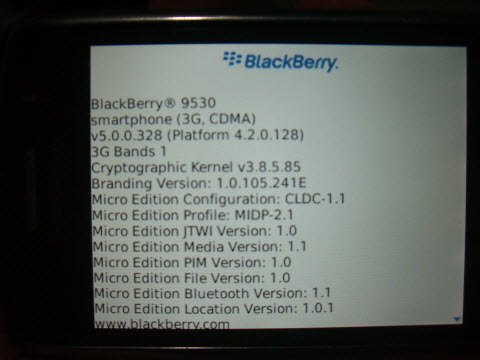 OS 5.0.0.327 and OS 5.0.0.328 for the BlackBerry Storm 9530