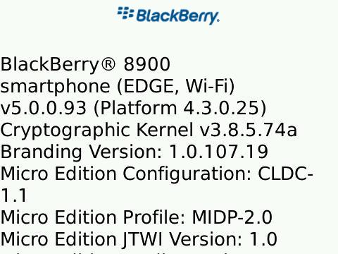 BlackBerry Curve 8900 OS 5.0.0.93 Found Online!