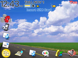 BlackBerry OS 4.3 Dimension L Theme