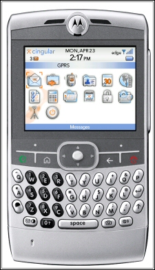 Motorola Q with BlackBerry OS