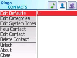 Contacts Menu