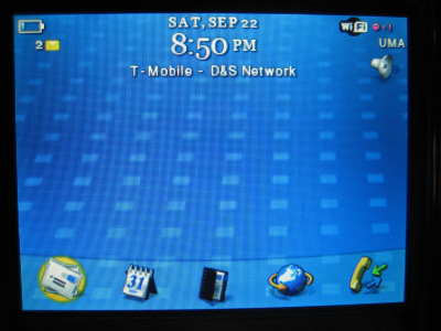 T-Mobile BlackBerry 8320 Connected to UMA
