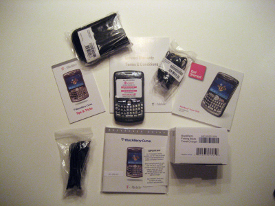 T-Mobile BlackBerry 8320 Unboxing