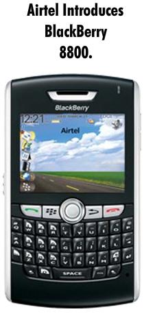 blackberry 800 from airtel