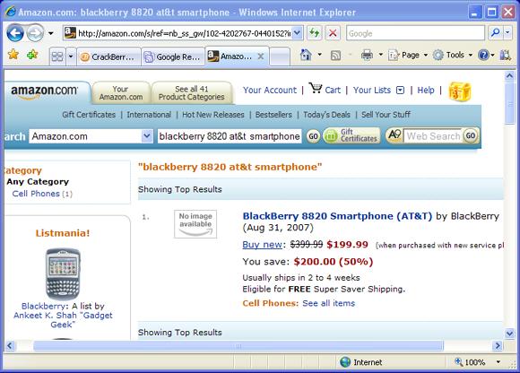 Amazon BlackBerry 8820