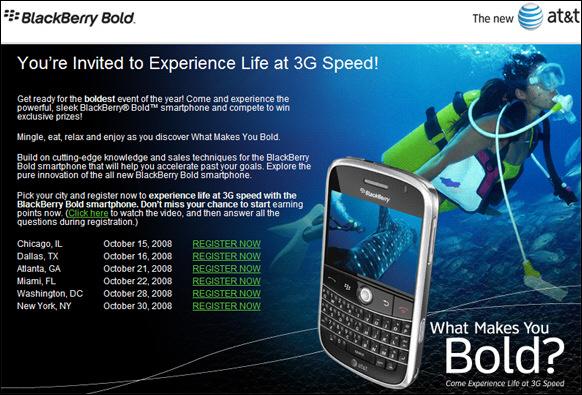 BlackBerry Bold Launch Parties