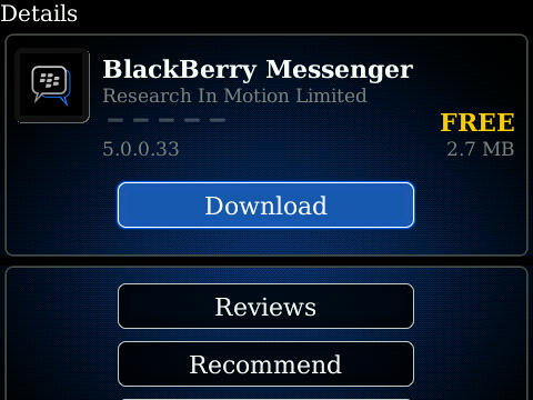 BlackBerry Messenger 5.0 Now Available for Download
