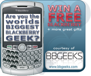BBGeeks win a BlackBerry