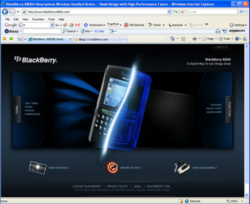 BlackBerry8800.com Web Site