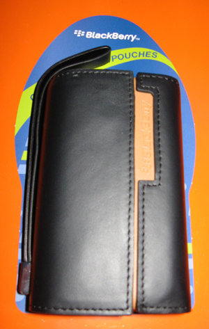 BlackBerry Leather Side Pouch