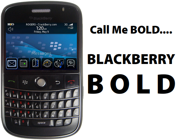 The BlackBerry 9000 Has a Name - the BlackBerry BOLD ...