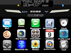 iBerry 8700 theme for BlackBerry